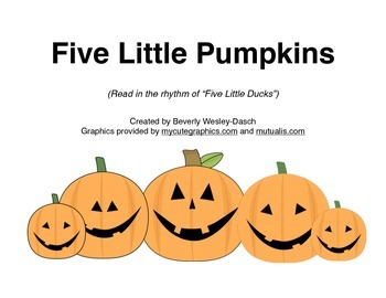 "Little Book  of ""Five Little Pumpkins"""