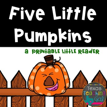 photo relating to 5 Little Pumpkins Printable referred to as 5 Small Pumpkins (A Printable Minor Reader)