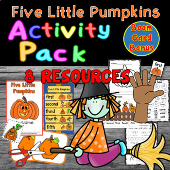 Five Little Pumpkins - Activity Pack - 5 activities