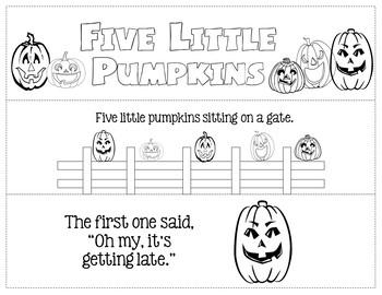 Five Little Pumpkins Activity Pack (Lower Elementary - Print & Go)