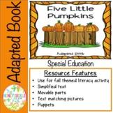 Five Little Pumpkins Adapted Book