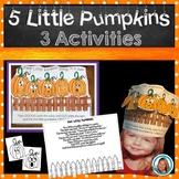 Five Little Pumpkins Book HAT  Halloween Activities