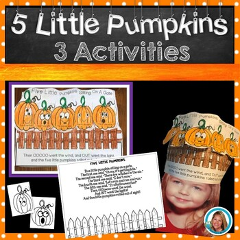 Five Little Pumpkins Book HAT  Halloween Activities