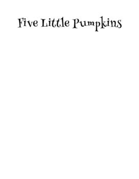 Five Little Pumpkins Booklet