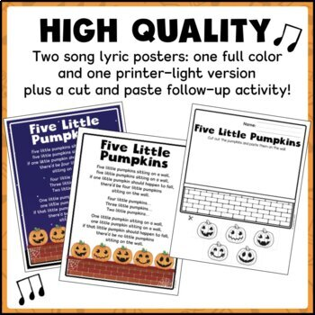 Five Little Pumpkins Song (Circle Time, Puppets, Counting, Social Skills)