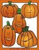 Five Little Pumpkins Clip Art Set - Chirp Graphics