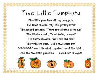 Five Little Pumpkins Color
