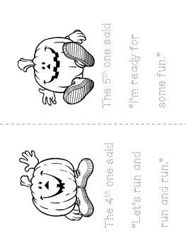 Five Little Pumpkins Color And Trace Booklet
