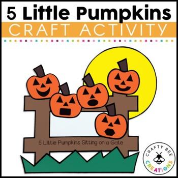 Five Little Pumpkins Cut and Paste