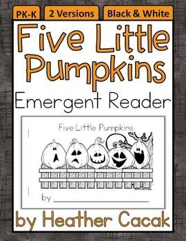Five Little Pumpkins Emergent Reader Mini Book (Math and Literacy)