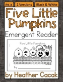 Five Little Pumpkins Emergent Reader Mini Book (Math and L