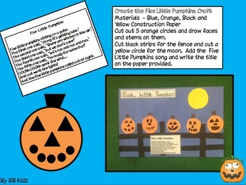 Five Pumpkins Emergent Reader, Writing Pages and Craft