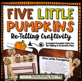 Five Little Pumpkins --- Poem Re-Telling Craftivity