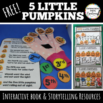 Five Little Pumpkins Free Finger Puppets Interactive Book