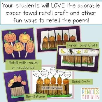 Five Little Pumpkins - Halloween STEM, ELA Activities, Crafts, Math, & more!