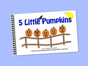 Five Little Pumpkins LITTLE INTERACTIVE BOOK