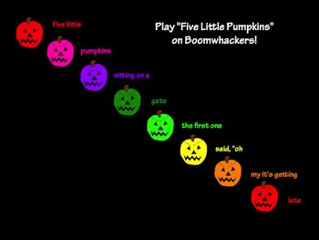 Five Little Pumpkins: Lesson on Pitch Using Boomwhackers (PPT and Flipchart)