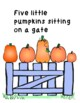 Five Little Pumpkins Literacy and Math Activities