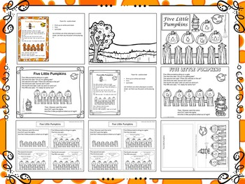 Five Little Pumpkins Magnet Activity