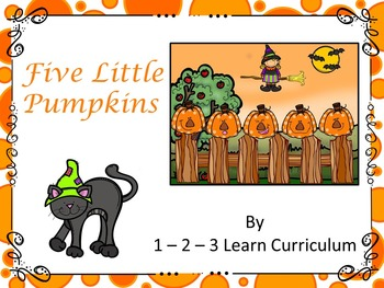Five Little Pumpkins Magnet Activity