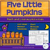 Five Little Pumpkins Math and Literacy Activities