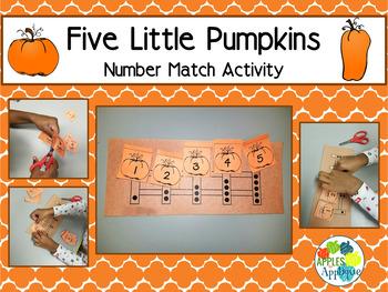 Five Little Pumpkins Number Match Activity
