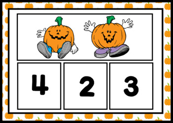 Five Little Pumpkins Number Recognition Mats