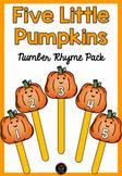 Five Little Pumpkins Number Rhyme & Puppets