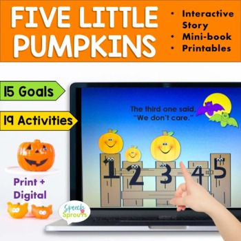 Five Little Pumpkins Speech and Language Activities for Fall
