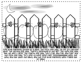 Five Little Pumpkins Play and Coloring Page
