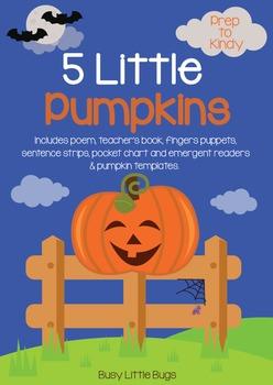Five Little Pumpkins Poem Bundle