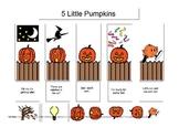 Five Little Pumpkins Poem Visual