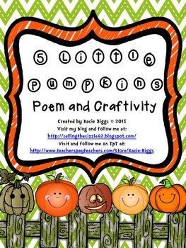 Five Little Pumpkins Poem and Craft