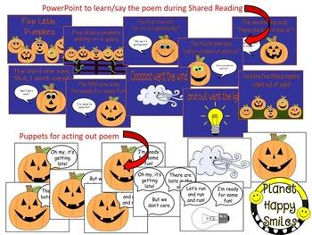 Pumpkin Activity ~ Five Little Pumpkins Poem and Puppets