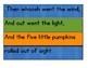 Five Little Pumpkins Poetry Center Pack