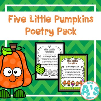 Five Little Pumpkins Poetry Pack