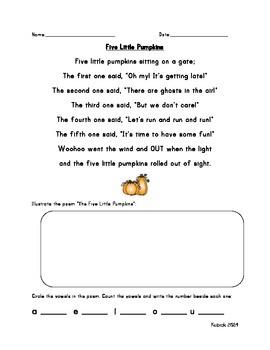 Five Little Pumpkins Poetry Station