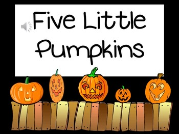 FIVE LITTLE PUMPKINS- ENGLISH AND SPANISH! -JUST IN TIME FOR HALLOWEEN!
