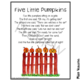 Five Little Pumpkins Printable Poem ~ Halloween Poetry for Kids