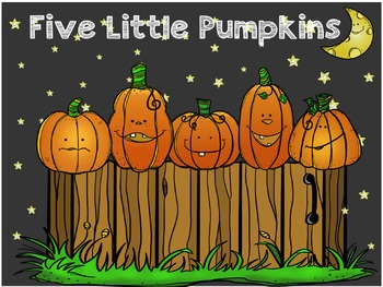 Five Little Pumpkins Read Aloud and Math and Literacy  Readers