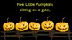 Five Little Pumpkins Slideshow Style Movies IWB/iPod Halloween Books