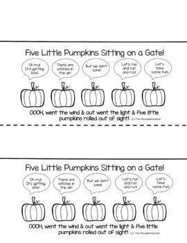 Five Little Pumpkins Treat Label