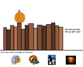 "Halloween: ""Five Little Pumpkins"" activity woksheets"