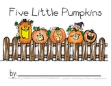 Five Little Pumpkins {coloring and handwriting book}