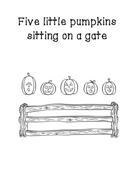 Five Little Pumpkins printable easy reader