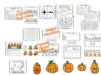 Halloween - Five Little Pumpkins with Literacy and Math Activities
