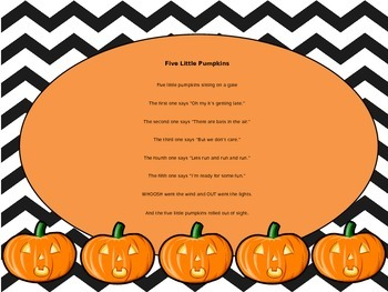 Five Little Pumpkins (with animations)