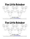 Five Little Reindeer - Christmas Emergent Reader for Students
