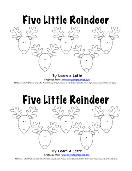 picture regarding Five Little Pumpkins Poem Printable known as 5 Tiny Reindeer - Xmas Emergent Reader for College students