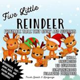 Five Little Reindeer, Holiday Activities, Speech Therapy Christmas Activities